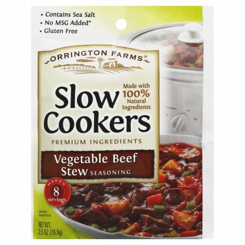 Orrington Farms Vegetable Beef Stew Slow Cookers Seasoning, 2.5 Oz (Pack of 12) Perspective: front