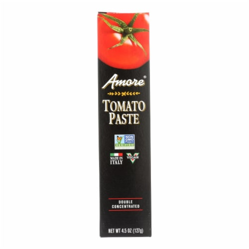 Amore - Double Concentrated Tomato Paste - Tube - 4.5 oz Perspective: front