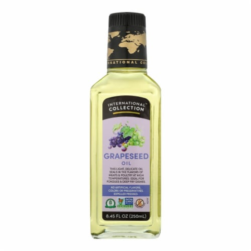 International Collection Grapeseed Oil - Case of 6 - 8.45 Fl oz. Perspective: front