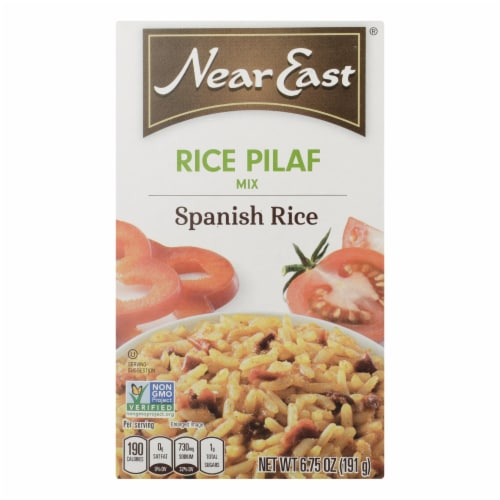 Near East Rice Pilaf Rice - Spanish - Case of 12 - 6.75 oz. Perspective: front