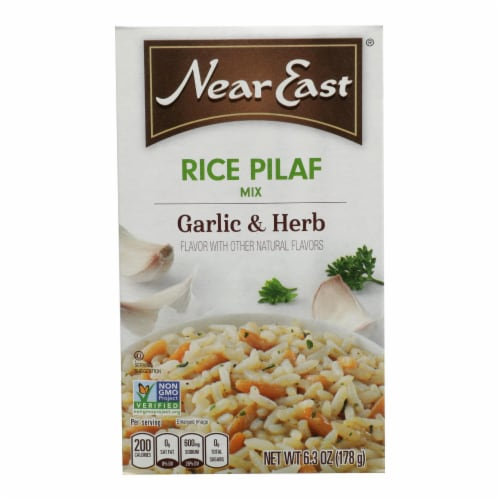 Near East Rice Pilafs - Garlic and Herb - Case of 12 - 6.3 oz. Perspective: front