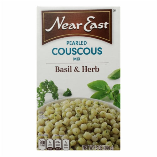 Near East Couscous Mix - Pearl Basil and Herb - Case of 12 - 5 oz. Perspective: front