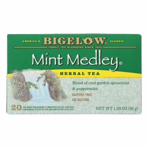 Bigelow Tea Herbal Tea - Mint Medley - Case of 6 - 20 BAG Perspective: front