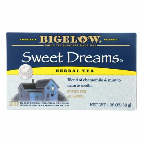 Bigelow Tea Sweet Dreams Herb Tea - Case of 6 - 20 BAG Perspective: front