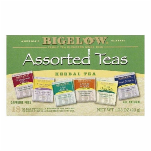Bigelow Assorted Herbal Tea Perspective: front