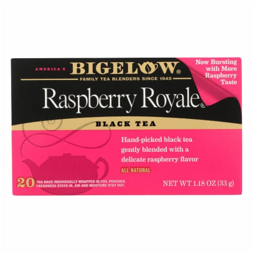 Bigelow Tea Raspberry Royale Black Tea - Case of 6 - 20 Bags Perspective: front