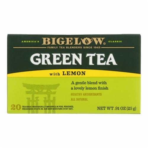 Bigelow Tea Green Tea - with Lemon - Case of 6 - 20 BAG Perspective: front