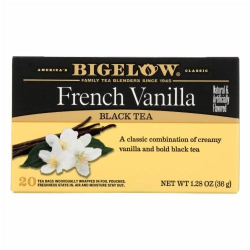 Bigelow Tea French Vanilla Black Tea - Case of 6 - 20 Bags Perspective: front