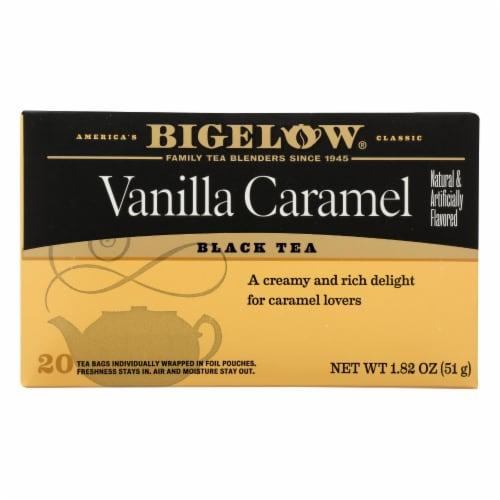 Bigelow Tea Vanilla Caramel Black Tea - Case of 6 - 20 Bags Perspective: front