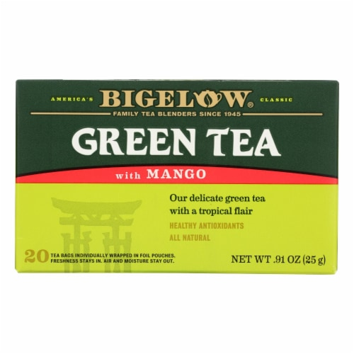 Bigelow Tea Green Tea with Mango - Case of 6 - 20 BAG Perspective: front