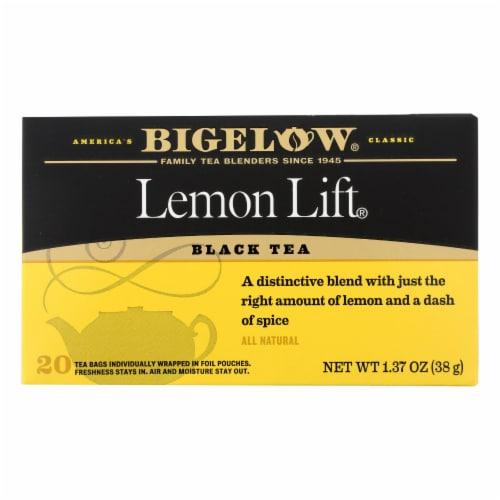 Bigelow Tea Lemon Lift Black Tea - Case of 6 - 20 Bags Perspective: front