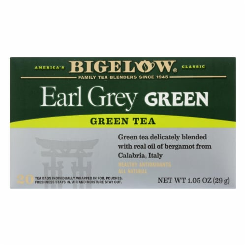 Bigelow Tea Green Tea - Earl Grey - Case of 6 - 20 BAG Perspective: front