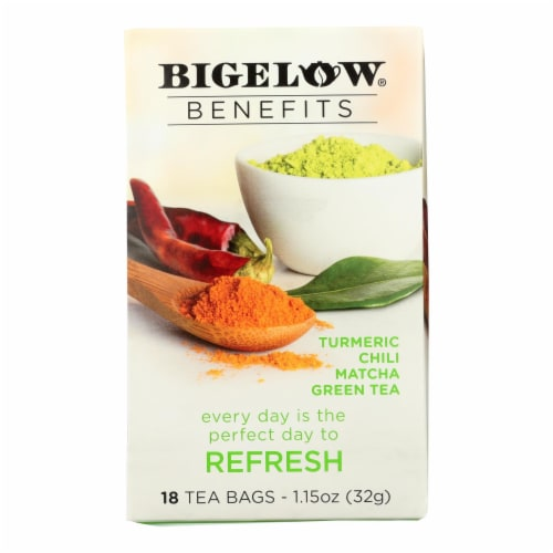 Bigelow Tea Tea - Matcha Green - Refresh - Case of 6 - 18 BAG Perspective: front