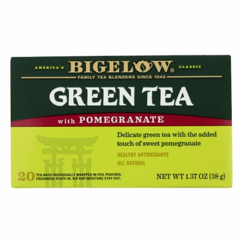 Bigelow Tea Green Tea with Pomegranate Perspective: front