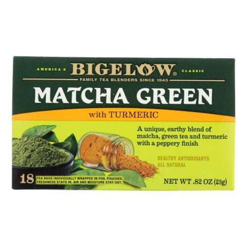 Bigelow Tea Matcha Green Tumeric Perspective: front
