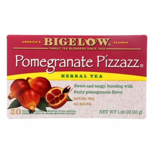 Bigelow Tea Herbal Tea - Pomegranate Pizzazz - Case of 6 - 20 BAG Perspective: front