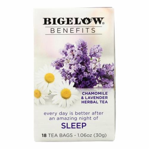 Bigelow Tea Tea - Chamomile Lavender - Sleep - Case of 6 - 18 BAG Perspective: front