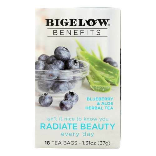 Bigelow Tea Tea - Blueberry Aloe Radiate Beauty - Case of 6 - 18 BAG Perspective: front