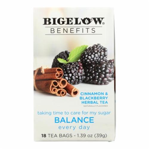 Bigelow Benefits Balance Cinnamon & Blackberry Herbal Tea Perspective: front
