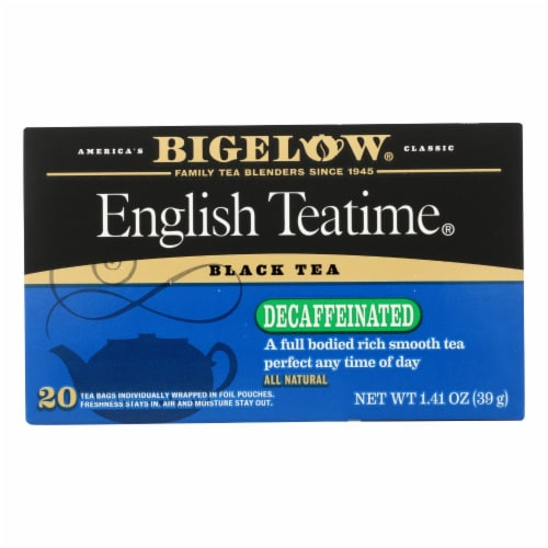Bigelow Tea English Teatime Decaffeinated Black Tea - Case of 6 - 20 Bags Perspective: front