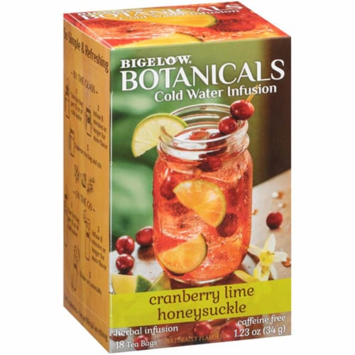 Bigelow Botanicals Cold Water Infusion Cranberry Lime Honey Suckle, 1.23 oz (Pack of 6) Perspective: front
