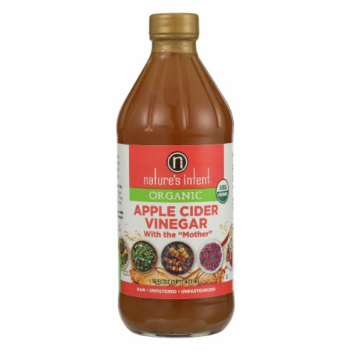 Nature's Intent Vinegar - Organic - Apple Cider - Case of 6 - 16 fl oz Perspective: front