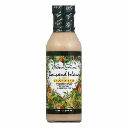 Walden Farms Salad Dressing 1000 Island Sugar & Calorie Free No Carb, 12 OZ (Pack of 6) Perspective: front