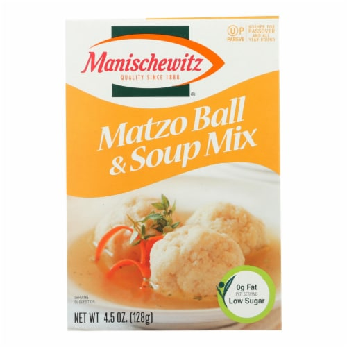Manischewitz - Matzo Ball and Soup Mix - Case of 24 - 4.5 oz. Perspective: front