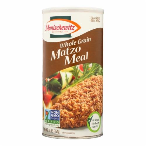 Manischewitz - Matzo Meal - Whole Grain - Case of 12 - 1 lb. Perspective: front