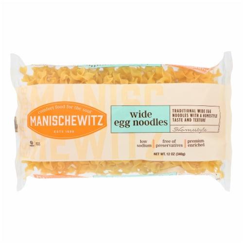 Manischewitz - Egg Noodles Broad - Case of 12 - 12 oz. Perspective: front