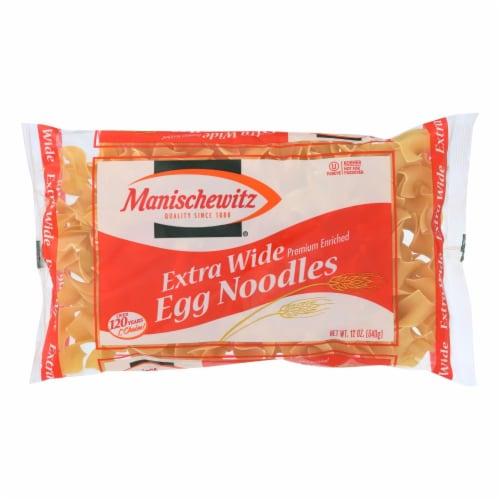 Manischewitz - Extra Wide Egg Noodles - Case of 12 - 12 oz. Perspective: front