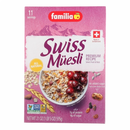 Familia Muesli Cereal - Sugar Free - Case of 6 - 21 oz. Perspective: front