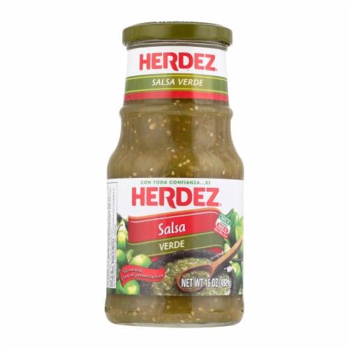 Herdez Salsa - Verde - Case of 12 - 16 oz. Perspective: front