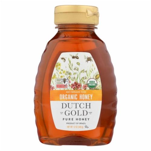 Dutch Gold Honey Organic Wildflower Honey - Case of 6 - 12 oz. Perspective: front