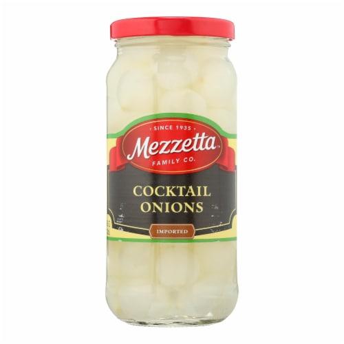 Mezzetta Cocktail Onions - Case of 6 - 16 oz. Perspective: front