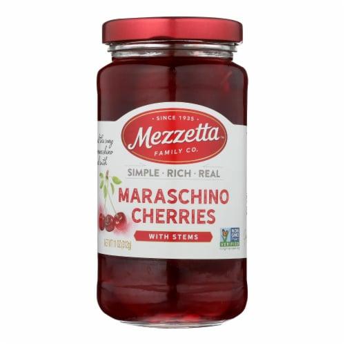 Mezzetta's Maraschino Cherries With Stems  - Case of 6 - 11 OZ Perspective: front