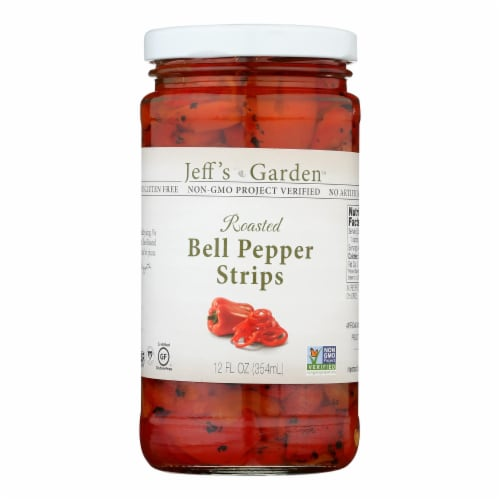 Jeff's Natural - Bell Pepper Strips - Case of 6 - 12 oz. Perspective: front