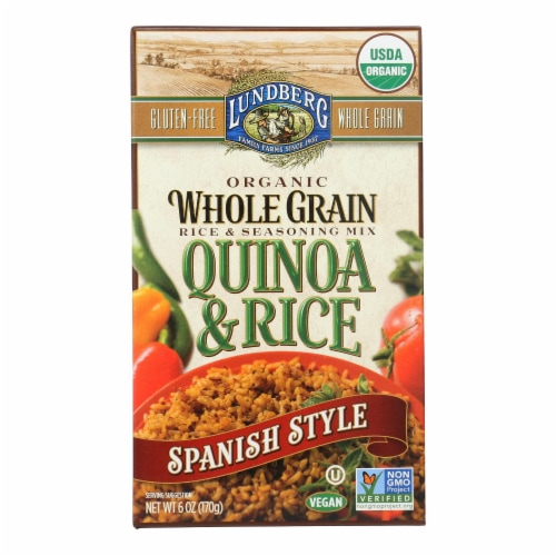 Lundberg Family Farms Organic Quinoa and Rice Spanish Style - Case of 6 - 6 oz. Perspective: front