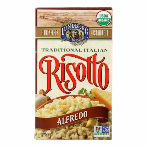 Lundberg Family Farms Risotto Alfredo - Parmesan Cheese - Case of 6 - 5.5 oz. Perspective: front