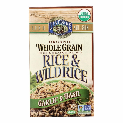 Lundberg Family Farms Whole Grain Rice and Wild Rice - Case of 6 - 6 oz. Perspective: front