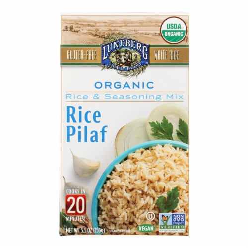 Lundberg Family Farms - Rice and Seasoning Mix - White Rice Pilaf - Case of 6 - 5.50 oz. Perspective: front