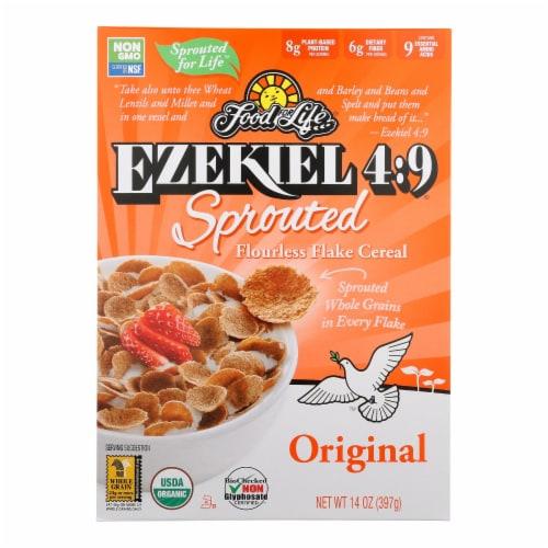 Food For Life Organic Flake Cereal - Ezekiel 4:9 Original - Case of 6 - 14 oz Perspective: front