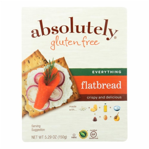 Absolutely Gluten Free - Flatbread - Original - Case of 12 - 5.29 oz. Perspective: front