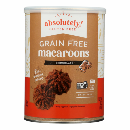 Absolutely Gluten Free Macaroons - Chocolate - Clasc - Case of 6 - 10 oz Perspective: front