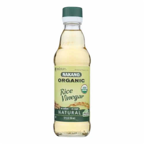 Nakano Vinegar - Organic - Natural Rice - Case of 6 - 12 oz Perspective: front