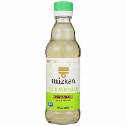 Mizkan Rice Vinegar Natural Mild & Mellow, 12 FL oz (Pack of 6) Perspective: front