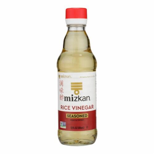 Mizkan - Rice Vinegar Seasoned - Case of 6 - 12 OZ Perspective: front