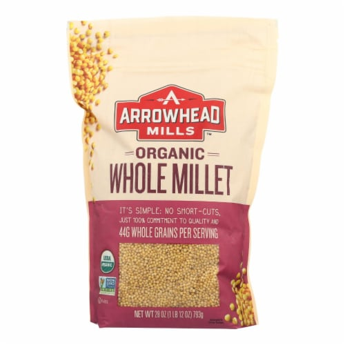 Arrowhead Mills - Organic Hulled Millet - Case of 6 - 28 oz. Perspective: front