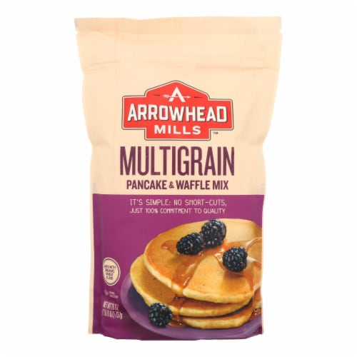 Arrowhead Mills - Pancake and Waffle Mix - Natural Multigrain - Case of 6 - 26 oz. Perspective: front