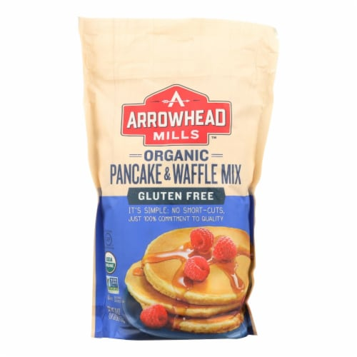 Arrowhead Mills - Organic Pancake and Waffle Mix - Case of 6 - 26 oz. Perspective: front